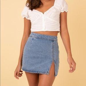 Lioness | NWT Lola Mini Skirt Denim Blue XS/2